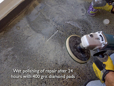 Repairing cracks in polished concrete roadware incorporated for Polished concrete maintenance